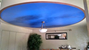 Dinning Room Ceiling,  Cobalt Blue Powder Room!