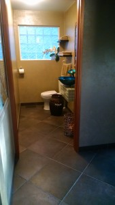Cobalt Blue Powder Room!  After